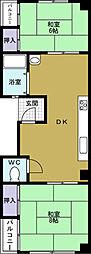 JPアパートメント港3[5階]の間取り