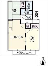 エステートパレス福岡[2階]の間取り