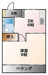 カーサ上甲子園[4階]の間取り