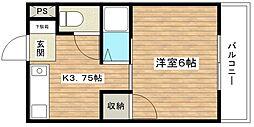 津之江パークハイツ2号館[201号室]の間取り