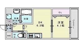 Osaka Metro御堂筋線 江坂駅 徒歩13分の賃貸マンション 10階1DKの間取り