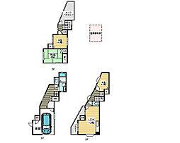 [一戸建] 大阪府松原市新堂3丁目 の賃貸【/】の間取り