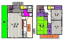[一戸建] 東京都町田市大蔵町 の賃貸【/】の間取り