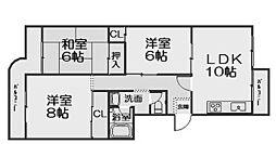 新檜尾台第1次住宅12号棟(新檜尾台小学校区)[3階]の間取り