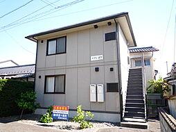 長野県松本市大字岡田下岡田の賃貸アパートの外観
