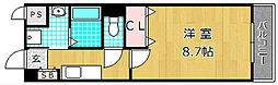 ユリウスNUMBER5[1階]の間取り
