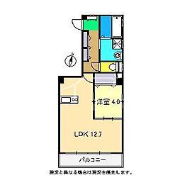 Caldo Misono[4階]の間取り