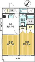 東京都葛飾区東新小岩4丁目の賃貸マンションの間取り
