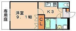 福岡県飯塚市菰田の賃貸アパートの間取り