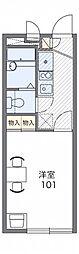 レオパレスロングバレー1673[2階]の間取り