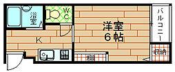 大阪府大阪市港区波除4丁目の賃貸マンションの間取り