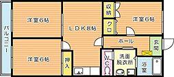 鷹の巣中央ビル[3階]の間取り