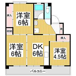 ビレッジハウス松尾1号棟[3階]の間取り