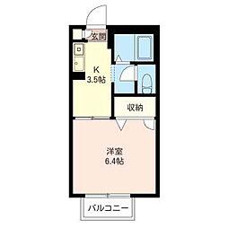 アンビション弐番館[2階]の間取り