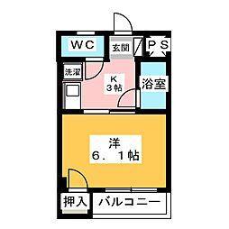 コンフォート千原[2階]の間取り