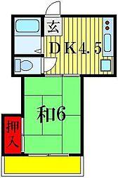ハイツイワサキ[2階]の間取り