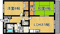 奈良県奈良市南魚屋町の賃貸マンションの間取り