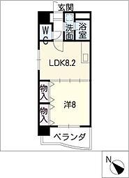 メゾンボナール[4階]の間取り