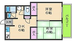 La CaSa駒川中野[2階]の間取り