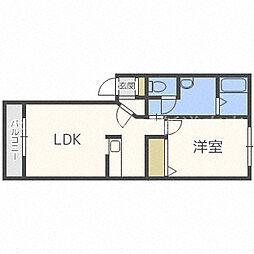 北海道札幌市東区北四十二条東6丁目の賃貸マンションの間取り