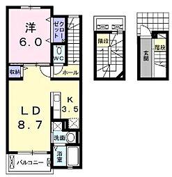 BLESS西戸田[3階]の間取り