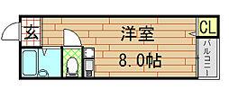 ピア小阪[2階]の間取り