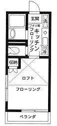 シャトルハイツシムラ[202号室]の間取り