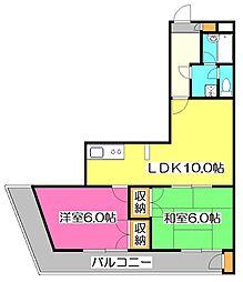 ミール大和田[2階]の間取り