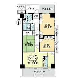 ソシエ北大阪壱期棟[6階]の間取り