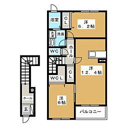 ネオ・グレイスB[2階]の間取り