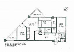 サンサーラ亀岡[4階]の間取り
