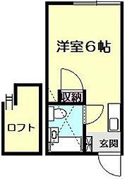 ハイツ古沢[2階]の間取り