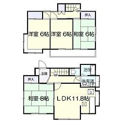 [一戸建] 千葉県松戸市六高台3丁目 の賃貸【/】の間取り