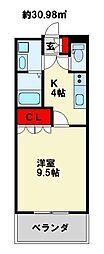 福岡県北九州市小倉南区長野1丁目の賃貸アパートの間取り