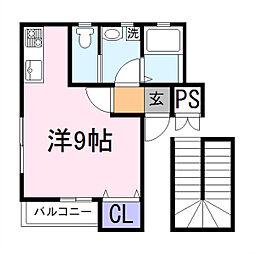 兵庫県加古川市加古川町寺家町の賃貸アパートの間取り