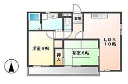 愛知県名古屋市名東区高針原1丁目の賃貸マンションの間取り