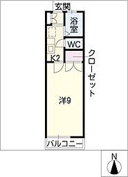 フォレスト3[2階]の間取り
