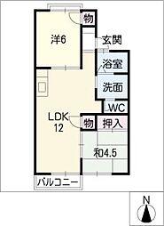 レジデンス福田[2階]の間取り