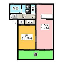 ハイツIII[1階]の間取り