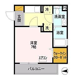 東京都八王子市横山町の賃貸アパートの間取り