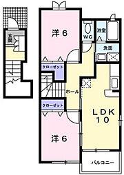 I :KM2 B棟[2階]の間取り