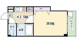 スタジオM[424号室]の間取り