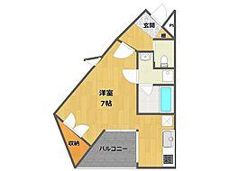 ソリューション甲子園[4階]の間取り