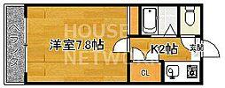 木全マンション[1階111号室号室]の間取り