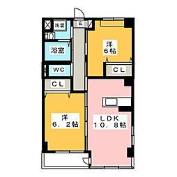 サンパレスVIII[3階]の間取り