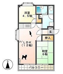 グリーンディヒルズ桜井 A棟[1階]の間取り