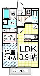 仮)D-room三輪9丁目(都市ガス)[1階]の間取り