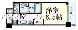 Osaka Metro御堂筋線 東三国駅 徒歩6分の賃貸マンション 10階1Kの間取り