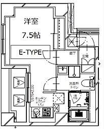 東京メトロ有楽町線 月島駅 徒歩3分の賃貸マンション 7階1Kの間取り