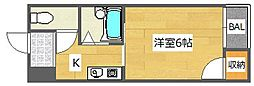 大阪府高槻市芥川町4丁目の賃貸マンションの間取り